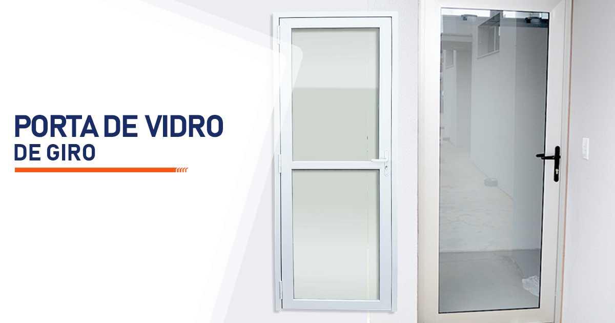 Porta De Giro De Vidro