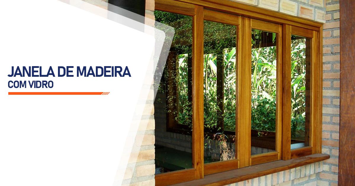 Janela De Madeira Com Vidro Santo André