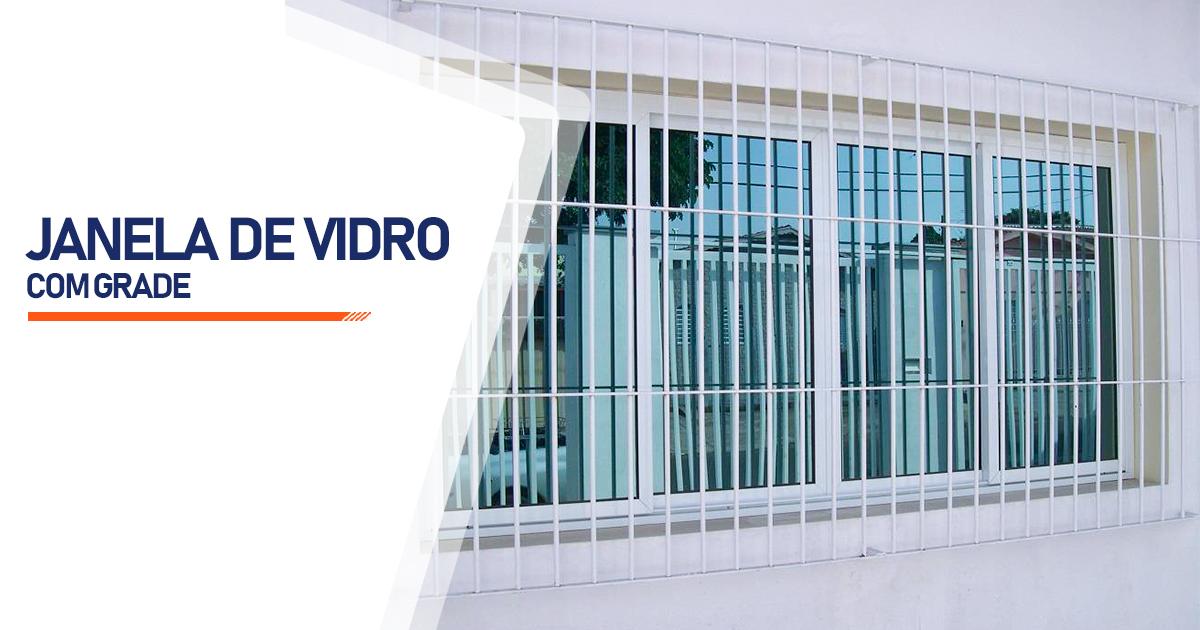Janela De Vidro Com Grade Santo André