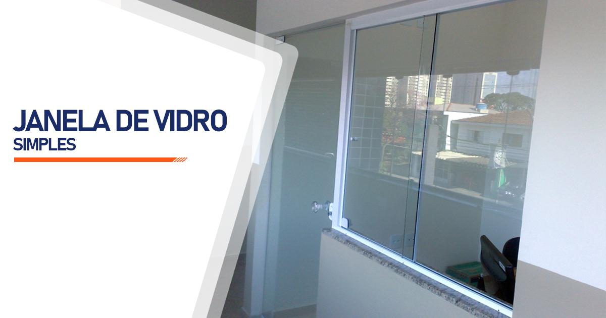 Janela De Vidro Simples Santo André