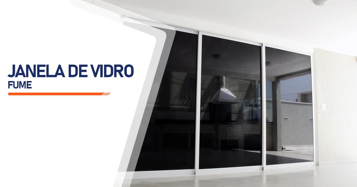 Janela Vidro Fume Santo André