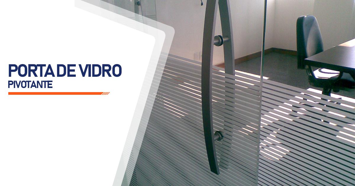 Porta Pivotante De Vidro Santo André